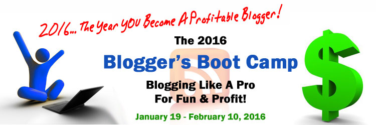 2016 Blogger's Boot Camp