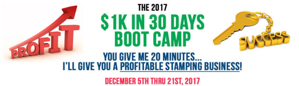 2017 $1K In 30 Days Boot Camp