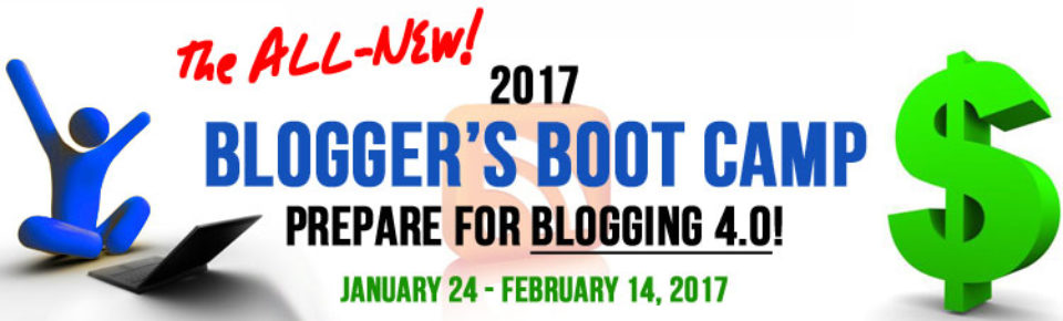 2017 Blogger's Boot Camp