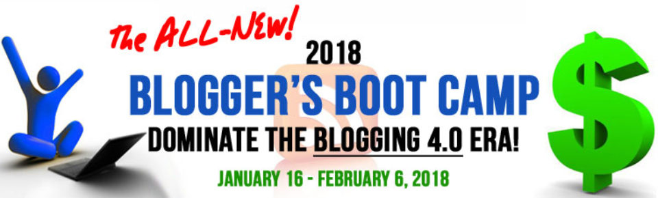 2018 Blogger's Boot Camp